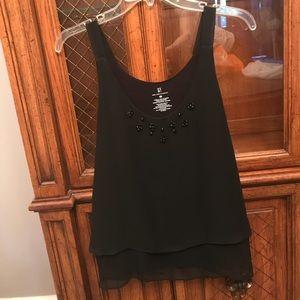 Black Woman's Sleeveless Dress Top
